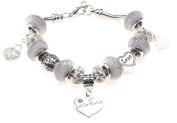 Little Sister 40th Birthday Charm Bracelet with Gift Box Women's Jewellery