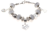 Special Sister 40th Birthday Charm Bracelet with Gift Box Women's Jewellery