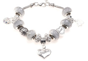 Sister 40th Birthday Charm Bracelet with Gift Box Women's Jewellery