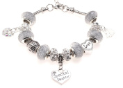 Special Daughter 40th Birthday Charm Bracelet with Gift Box Women's Jewellery