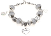 Granddaughter 40th Birthday Charm Bracelet with Gift Box Women's Jewellery