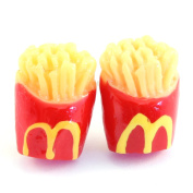 TFB - FUNKY MINI JUNK FOOD M FRENCH FRIES STUD EARRINGS NOVELTY QUIRKY FUN GIFT CUTE
