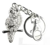 Quadiva Bag Charm Owl Pendant Necklace for Women (Colour