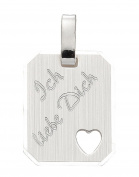I Love You 925 Sterling Silver Pendant
