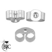 BJC® 9ct White Gold 4mm Light weight Earring Backs / Scrolls / Butterfly Backs