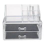 iEFiEL Clear Acrylic Jewellery Makeup Cosmetic Organiser Case Display Holder Storage Box