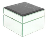 Black Marble and Mirror Sectioned Jewellery Box