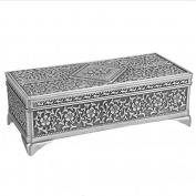 TRIXES Silver Vintage Jewellery Box for Earrings Rings and Necklaces