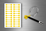 Stickers Sticker Jewellery Price Label shop Jewellery - Yellow (Pack of 22