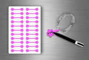 Stickers Sticker Jewellery Price Label shop Bijouterie Fuchsia/Pack of 22