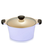 KK-UK-Aluminium pan / non-stick coating thicker ceramic / aluminium die-casting non-stick pan (pan coating is black) , purple , 26cm