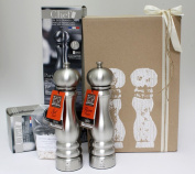 Deko Miro Executive Gift Set Salt Mill and Pepper Mill 22 cm Paris U-Select Peugeot with 100 gr. Salt in Gift Box