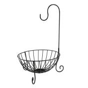 ROSENICE Novelty Housewares Kitchen Metal Fruit Basket with Detachable Banana Hanger Holder Hook