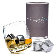 Rocking Whiskey Glass & Stainless Steel Whiskey Stones Set - Whisky Gift Set