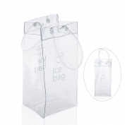 Pixnor Durable Clear PVC Wine Bag Ice Pouch Cooler Bag with Handle