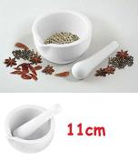 White Pestle & Mortar Natural Granite Kitchen Mortar & Pestle Small Size 11.5cm