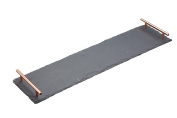 Master Class Artesà Slate Serving Tray / Platter with Copper Finish Handles, 60 x 15 cm