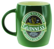 Green Ceramic Barrell Mug with St James Gate Label - Guinness Ireland Collection