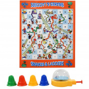 Kids Giant Snakes & Ladders Roll Out Carpet Board Game Family Traditional Indoor Outdoor Garden Button Press Dice Roller