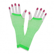 80s Neon Net Gloves Long Costume Accessory