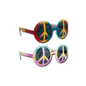 P 'tit clown 40001 Plastic Glasses - Hippie - Peace and Love - Multicolore