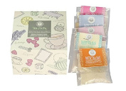 Tea Party Bath Tea Bag Collection by Wild Olive Handmade in England