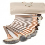 Ammiy®18 Pcs Makeup Brush Set Professional Wood Handle Premium Synthetic Kabuki Foundation Blending Blush Concealer Eye Face Liquid Powder Cream Cosmetics Lip Brush Tool Brushes Kit