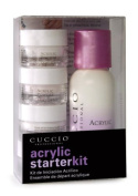 Cuccio Acrylic Starter Kit (Pink,White,Clear + Liquid) - 1273