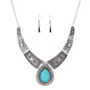 Silver and Blue Jewellery Set