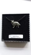 D10 Sheltie fine english pewter 3D PENDENT ON A BLACK CORD Necklace Handmade 41CM & Adjustable with pride in details