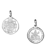 Shree Yantra Pendant Pure Silver 999 Blessed And Energised Locket