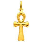 Little Treasures - 14 ct Gold Egyptian Ankh Cross Pendant