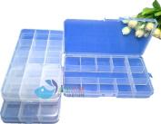 Ardisle 3 x 15 COMPARTMENT ORGANISER STORAGE PLASTIC BOX CRAFT LOOM NAIL ART BEADS