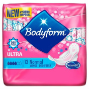 Bodyform Deo-Fresh Wings Normal 12 per pack Case of 4