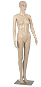 Zeny® Female Mannequin Plastic Realistic Display Head Turns Dress Form w/ Base