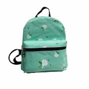 Binmer(TM) Women Backpack Canvas School Bag Rose School Backpacks Shoulder Bags