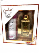 Mahasin Crystal Oriental Gift Set  Eau De Parfum   100ML, Deodorant Parfum for Women from Lattafa