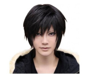 Mermaid Men's Short Straight Hair Wig Death Note Male Fashion Cool Black Wigs Cosplay Costume Anime Show & Party & Performance