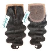 Rosabeauty Free Part Body Wave Silk Base Top Closure 10cm x 8.9cm Natural Colour Bleached Knots Brazilian Virgin Human Hair Accessions