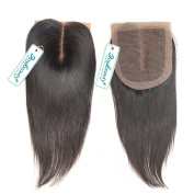 Rosabeauty Best Quality Silk Base Closure Brazilian Hair Straight 100% Human Hair Wigs No Shedding No Tangle With . 41cm )