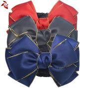 Xuanli® 3 Pcs Hair Bun Cover Barrette Bowknot Bow Snood Net Hair Clip Accessories For Womens Girls