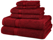 DIA 6-Piece Egyptian Cotton Towel Set - Cranberry