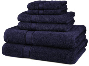 DIA 6-Piece Egyptian Cotton Towel Set - Navy