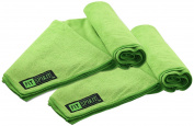 DIA Set of 2 Super Absorbent Microfiber Non Slip Skidless Sport Towels - GREE