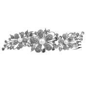 WINOMO Women's Bridal Wedding Crystal Rhinestones Hair Comb Clip Hair Pin Hair Accesories