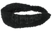 Capelli New York Ladies 13cm Slubby Retro Head Wrap Black One Size