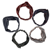 5pcs Women Stretchy Athletic Bandana Headbands Head wrap Yoga Headband Head Scarf Best Looking Head Band for Sports or Exercise FD08