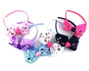 Crown Baby Toddler Girls Crown Bow Emoji PomPom Heart Headband Hair Accessories