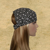 Black white bandana Headbands .