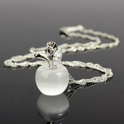 Opal Necklace Charminer Fashion Lady Silver Clear Opal Apple Necklace Pendant Girl Jewellery Gift
